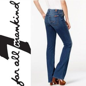 7FAM Bootcut Medium Wash Denim Jeans GUC 29